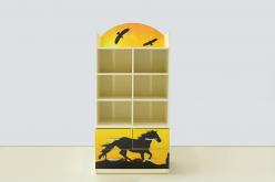 Стеллаж с тумбой  Мустанг желтый  (ВиВера мебель)