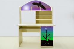 Стол письменный Мустанг сиреневый (ВиВера мебель)