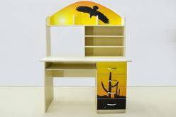 Стол письменный Мустанг желтый (ВиВера мебель)