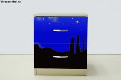Тумба Мустанг Синяя (ВиВера мебель)