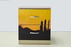 Тумба Мустанг желтая (ВиВера мебель)