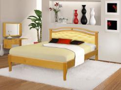 Кровать Ария с мягким изголовьем (ВМК Шале)