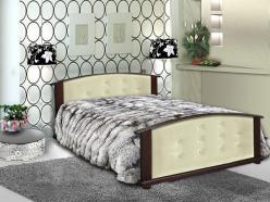 Кровать Милана с кожей (ВМК Шале)