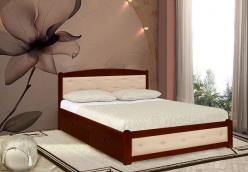 Кровать Березка 1 с кожей (ВМК Шале)