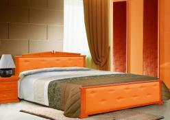 Кровать Авизия с кожей (ВМК Шале)