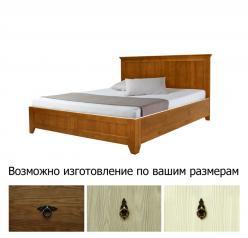 Кровать на 140, брашированная сосна (Woodmos)
