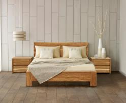 Кровать Лоредо 140*200 (б/к,б/м) массив дуба (Woodmos)