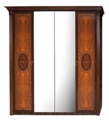 """""""Карина-2 Шкаф 4-х дверный с зеркалами К2Ш1/4 (матовое исполнение) (Ярцево)"""