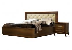 Кровать Амели (1,6) с мягкой спинкой и подъемным механизмом (ноче) (Ярцево)