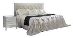 Кровать Амели (1,6) с мягкой спинкой и подъемным механизмом (Ярцево)