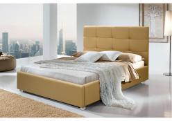 """Кровать """"Арго"""" с мягкой квадратной спинкой (Ярцево)"""