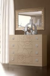 Роза Комод с 4 ящиками (без зеркала) Р1КМ-1 (Ярцево)