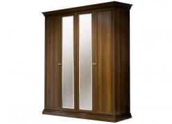 Амели Шкаф 4-х ств. для платья и белья (2 зеркала) (Ярцево)