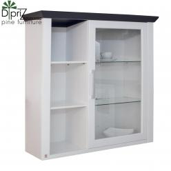 Шкаф навесной Манхетен Д 7200-3 (со стеклом) (Диприз)