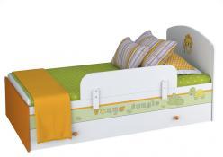 Кроватка-трансформер детская Polini Basic Джунгли 180х90 белый (Воткинская ПК)