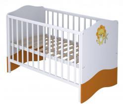 Кроватка-трансформер детская Polini Basic Джунгли белый (Воткинская ПК)