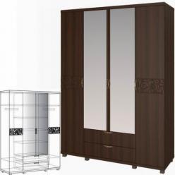 Шкаф для одежды 4-х дверный с ящиками 06 «Ирис» (Арника)