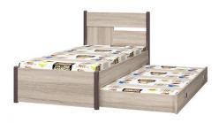 ИД 01.24 Детская кровать 900 с настилом + ИД 01.24А Ящик 800 «Хэппи» (Интеди)