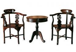 Традиционные кресла Цюань-И в комплекте со столом Юань-Чжо  KITAI$CHINA (Mobilier de Maison)