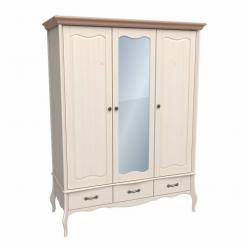 Шкаф 3х дверный с зеркалом Лебо (Sanremi)