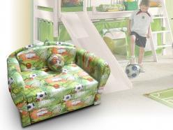 Минидиван зеленый Спорт 01 (Малина)