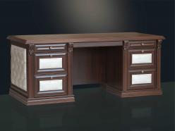 Стол письменный орех/игуана  (Мебель Благо)