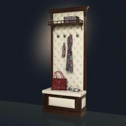 Вешалка с обувницей и полкой Б 5.8-5 (Мебель Благо)