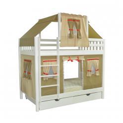 Кровать игровая 2х-ярусная Скворушка-5 (Мебель-Холдинг)