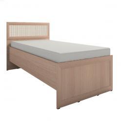 Кровать 4 «Милана» на 900 Дуб отбеленный (Глазов-мебель)