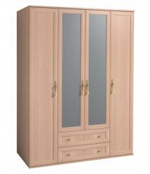 Шкаф для одежды и белья 1 «Милана» Дуб отбеленный (Глазов-мебель)