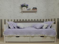 Кровать-диван для детской Бейли с выдвижными ящиками   (Sanremi)