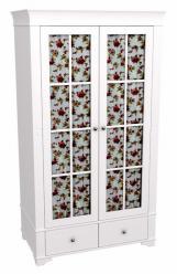 Шкаф 2х дверный со стеклянными дверями Бейли (ММЦ)