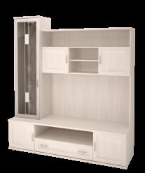 """Модуль 24 Шкаф-стеллаж комбинированный (стекло с рисунком) """"Ника Люкс"""" (Ижмебель)"""