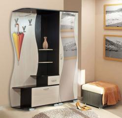 Прихожая Визит М10 + Шкаф для одежды Визит-М07 (Олимп-мебель)