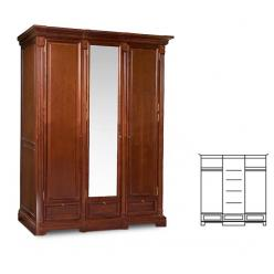 Шкаф для платья и белья ГМ 5923 Престиж (ГомельДрев)