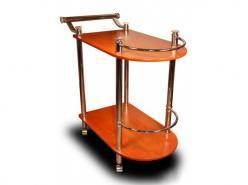 Сервировочный столик SC-5038 Марно МДФ  (Рэд энд Блэк)