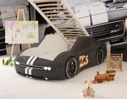 Кровать - машинка Челенджер (черная) (Ред Ривер)