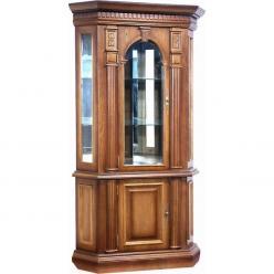 Шкаф угловой витрина Верона-9 М (дуб) (Минскпроектмебель)