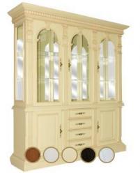 Шкаф витрина Верона-8 М (ваниль с патиной) (Минскпроектмебель)