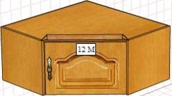 Вилия-М Антресоль 12 М / (12 ГМ) / (12 МВ) / (12 ГМВ) (Вилейская мебельная фабрика)