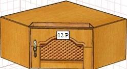Вилия-М Антресоль 12 Р / (12 ГР) (Вилейская мебельная фабрика)