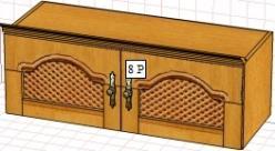 Вилия-М Антресоль 8 P / (8 ГР) (Вилейская мебельная фабрика)