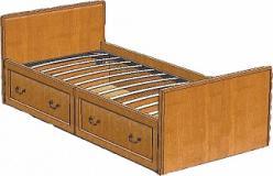 Вилия Кровать пр.ВМФ-5093 (Вилейская мебельная фабрика)