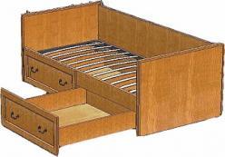 Вилия Кровать пр.ВМФ-5092 (Вилейская мебельная фабрика)