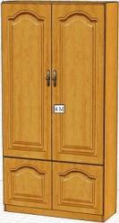 Вилия-М Шкаф 4 ГМ / (4 М) (Вилейская мебельная фабрика)