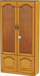 Вилия-М Шкаф 4 Р / (4 ГР) / (4 ГР - 01) (Вилейская мебельная фабрика)