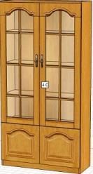Вилия-М Шкаф 4 С / (4 ГС,4Сз) / (4 ГС - 01) (Вилейская мебельная фабрика)
