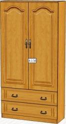 Вилия-М Шкаф 4,1 М / (4,1 ГМ)  (Вилейская мебельная фабрика)