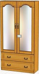 Вилия-М Шкаф 4,1 З / (4,1 ГЗ)  (Вилейская мебельная фабрика)