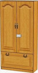 Вилия-М Шкаф 4,2 М / (4,2 ГМ)  (Вилейская мебельная фабрика)